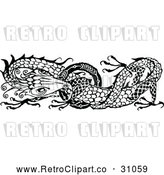 Vector Clip Art of Retro Dragon by Prawny Vintage
