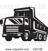 Vector Clip Art of Retro Dumptruck in by Patrimonio