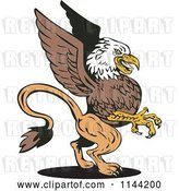 Vector Clip Art of Retro Eagle Griffin by Patrimonio