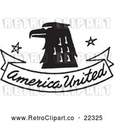 Vector Clip Art of Retro Eagle with American United Banner by BestVector
