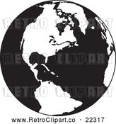 Vector Clip Art of Retro Earth Featuring the Americas by BestVector