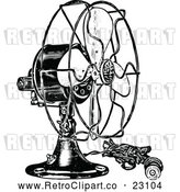 March 21st, 2018: Vector Clip Art of Retro Electric Fan by Prawny Vintage