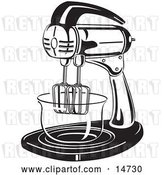 Vector Clip Art of Retro Electric Mixer in a Kitchen by Andy Nortnik