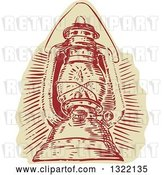 Vector Clip Art of Retro Engraved Kerosene Lamp by Patrimonio