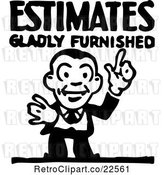 Vector Clip Art of Retro Estimate Guy by BestVector