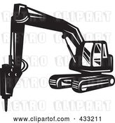 Vector Clip Art of Retro Excavator by Patrimonio