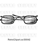 Vector Clip Art of Retro Eye Glasses 1 by Prawny Vintage