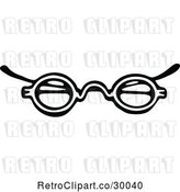 Vector Clip Art of Retro Eye Glasses 3 by Prawny Vintage