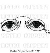 Vector Clip Art of Retro Eyes and Glasses 2 by Prawny Vintage