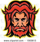 Vector Clip Art of Retro Face of Baldr by Patrimonio