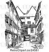 Vector Clip Art of Retro Falcon Yard in Cambridge Uk by Prawny Vintage