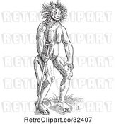Vector Clip Art of Retro Fantasy Cercopithecus Wild Guy by Picsburg