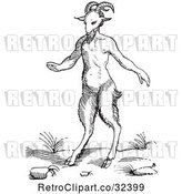 Vector Clip Art of Retro Fantasy Satyr or Pan by Picsburg