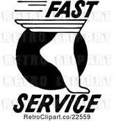 Vector Clip Art of Retro Fast Service Foot by BestVector