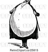 Vector Clip Art of Retro Fat Egg Guy by Prawny Vintage