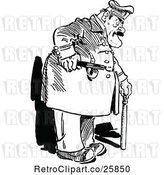 Vector Clip Art of Retro Fat Policeman by Prawny Vintage