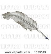 Vector Clip Art of Retro Feather Quill Pen by AtStockIllustration