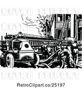 Vector Clip Art of Retro Fire Engine by Prawny Vintage