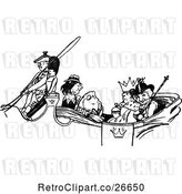 Vector Clip Art of Retro Fish and People in a Royal Carriage by Prawny Vintage