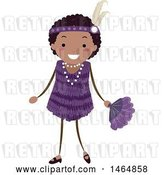 Vector Clip Art of Retro Flapper Girl in a Purple Dress by BNP Design Studio