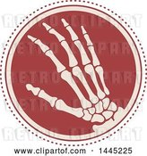 Vector Clip Art of Retro Flat Styled Hand Xray Medical Design by Vector Tradition SM