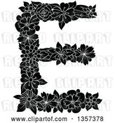 Vector Clip Art of Retro Floral Capital Letter E Design by Vector Tradition SM
