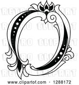 Vector Clip Art of Retro Floral Capital Letter O by Vector Tradition SM
