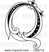 Vector Clip Art of Retro Floral Capital Letter Q by Vector Tradition SM