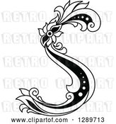 Vector Clip Art of Retro Floral Capital Letter S by Vector Tradition SM