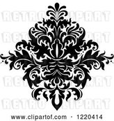 Vector Clip Art of Retro Floral Damask Design 2 by Vector Tradition SM