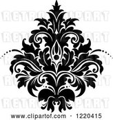 Vector Clip Art of Retro Floral Damask Design 3 by Vector Tradition SM