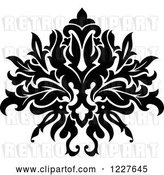 August 14th, 2018: Vector Clip Art of Retro Floral Damask Design 39 by Vector Tradition SM