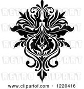 Vector Clip Art of Retro Floral Damask Design 4 by Vector Tradition SM