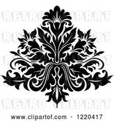 Vector Clip Art of Retro Floral Damask Design 5 by Vector Tradition SM
