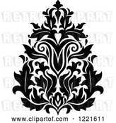 Vector Clip Art of Retro Floral Damask Design 6 by Vector Tradition SM