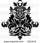 Vector Clip Art of Retro Floral Damask Design 7 by Vector Tradition SM
