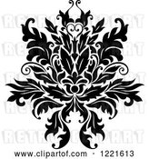 Vector Clip Art of Retro Floral Damask Design 8 by Vector Tradition SM