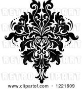 Vector Clip Art of Retro Floral Damask Design 9 by Vector Tradition SM