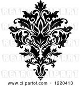 Vector Clip Art of Retro Floral Damask Design by Vector Tradition SM