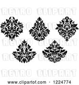 Vector Clip Art of Retro Floral Damask Designs 6 by Vector Tradition SM