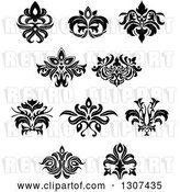 Vector Clip Art of Retro Floral Design Elements 10 by Vector Tradition SM