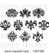 Vector Clip Art of Retro Floral Design Elements 11 by Vector Tradition SM