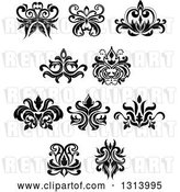 Vector Clip Art of Retro Floral Design Elements 12 by Vector Tradition SM