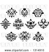 Vector Clip Art of Retro Floral Design Elements 13 by Vector Tradition SM