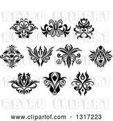 Vector Clip Art of Retro Floral Design Elements 14 by Vector Tradition SM