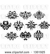 Vector Clip Art of Retro Floral Design Elements 6 by Vector Tradition SM