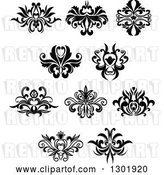 Vector Clip Art of Retro Floral Design Elements 7 by Vector Tradition SM