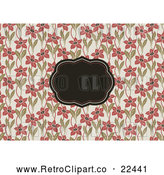 Vector Clip Art of Retro Floral Invitation Frame Background 1 by BestVector