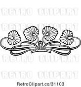 Vector Clip Art of Retro Floral Leaf Border by Prawny Vintage