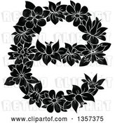Vector Clip Art of Retro Floral Lowercase Letter E Design by Vector Tradition SM
